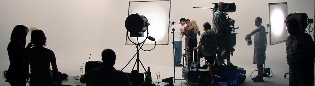 équipe de tournage en backstage