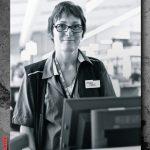 Photo d'une salariée d'Intermarché et son métier